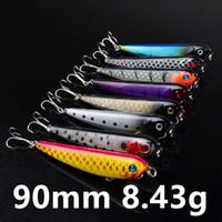 Mieszany 8 kolorów 90mm 8.43g Haczyki połowowe ołówek Fishhook 6 # Hook Hard Baits Przynęty B-028