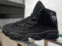 2019 New Cheap 13 XIII all Black leather low Men Basketball ...