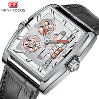 MINI FOCO Homens Relógios criativa Rotating engrenagem Couro Design Assista Top Relógios Mens 2020 Quartz Moda relógio de pulso