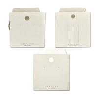 8x8см белый DIY пустой серьги ожерелье зажима для волос дисплей карта ювелирных изделий упаковочный органайзер антисторонняя подвесная бумажная карта упаковочный тег