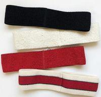 Diseñador de la diadema elástica para mujeres y hombres Green and Red Rayed Pein Bands Head Scarf Headwraps regalos