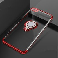 iPhone XR Case Ring Buckle Plating ultra thin Phone Shell In...