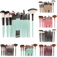 Powder Brush Batom Sombra Eye Makeup Brush Set Maquiagem Higiene Pessoal Kit Lã Marca escova da composição Set Profissional 18pcs