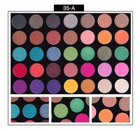 YENİ palet far makyaj Ultra pigmentli Glitter Gölgeler Işıltılı Güzellik cleof kozmetik göz farı paleti 35 renk DHL için belirlenen
