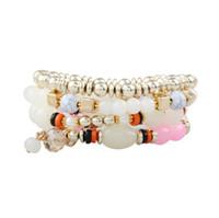 Braccialetti di fascino in cristallo di Boemia Braccialetti perle perline perline Braccialetti multistrato Charm multcolatore carino Bellissimo braccialetto Bracciale gioielli per le donne 02
