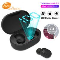 E6S Mini TWS Wireless Earbuds Headphone Hifi Sound Bluetooth 5.0 With Dual Mic Led Display Earphones Auto Pairing Headsets PK i9s i7s