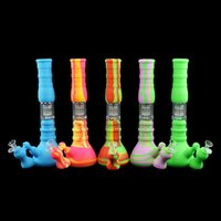 Three- layer filtration Portable silicone water pipe beaker b...