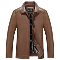 Nueva moda hombres ropa primavera pu faux piel de cuero ropa exterior chaqueta cremallera abrigo otoño invierno casual abrigo