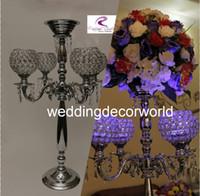 TALL 크리스탈 Candelabra Centerpieces / GOLD 웨딩 글로브 크리스탈 candelabra / 5 팔 candelabra / 캔들 홀더 decor395