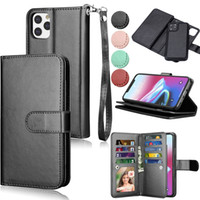 2 in 1 Magnetic Removable 9 Card Detachable Wallet Case For iPhone 11 Pro Max XR XS X 8 7 6 Samsung S8 S9 S10 Plus S10E Note 10 10+