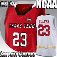 NCAA Texas Tech 23 Jarrett Culver Jersey 5 RJ Barrett Sião Williamson 12 De'andre Hunter 12 Ja Morant 21 Rui Hachimura Basketball Jersey