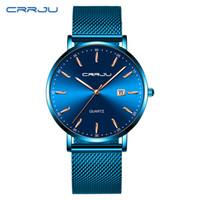 CWP 2021 reloj hombre crriju أعلى ماركة فاخرة الأزرق للماء الساعات سليم تاريخ أنيق عارضة الكوارتز مشاهدة الرجال الرياضة شبكة حزام ساعة