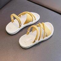 Sandalias Telotuny Niños Niños Infantos Niños Bebé Niños Verano Poja Abierta Romano Plano Sin Slip Beach Zapatos Niños