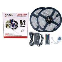 5050 SMD 5m 10m Nuovo RGB Impermeabile IP65 300 LED 600 LED Striscia flessibile LED + 44 Key IR Remote Conroller