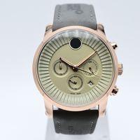 Dropshipping 42mm cronografo quarzo cinturino in pelle uomo di lusso designer orologio giorno data militare uomo orologi spedizione gratuita regalo orologio da polso da uomo