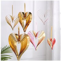 لؤلؤة ورقة القلب على شكل قلب شنقا حلية واحدة مجموعة أربعة قطع من مختلف الحجم لزينة الزفاف المنزل