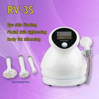 المحمولة 3 IN 1 الفوتون آلة العلاج الترددات اللاسلكية فراغ RV-3S للعيون والوجه والجسم العلاج treatmentBest 3 IN 1 فراغ الفوتون العناية بالوجه المضادة