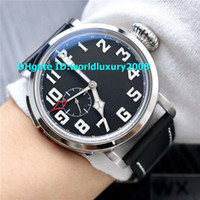 Hot Oversize Pilot Black Mens Watch Automatic Stainless Stee...