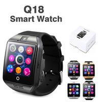 Q18 Bluetooth Smart Watch Support Carte SIM Connexion NFC Santé Smartwatches pour smartphone Android avec paquet de détail