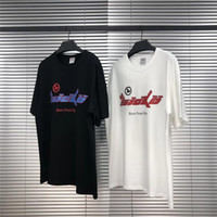 Erkek Tasarımcı Tshirt Yüksek Sokak Kısa Kollu Yuvarlak Boyun Mektup Baskı Moda Katı Tshirt 2 Renk Boyutu S-XL ile