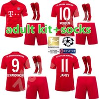 2019 2020 Bayern Munich Soccer jersey adult kit home 19 20 m...