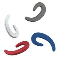 새로운 디자인 무선 블루투스 헤드폰 뼈 전도 이어폰 비 귀에 iphone 용 마이크와 함께 무선 이어폰 헤드셋 삼성