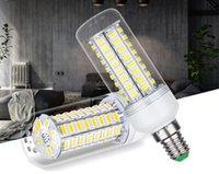 Lampada LED 10PC / LOT 220V LED lampadina LED 48/56 / 69LEDs luce del cereale di SMD 5730 Lampada nessuna luce intermittente della luce per la decorazione domestica