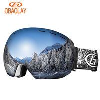 스키 액세서리 스노우 보드 고글 스키 안경 안티 - 안개가 근시에 넣을 수 있음 스키 고글 마스크 미러 야외 스포츠 방풍 겨울