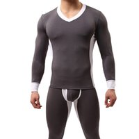 Mens Winter Thermal Underwear Sets Male Winter Plus Thick Wa...
