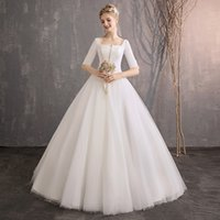 One- shoulder wedding dress, new, simple, thin satin, Changxi...