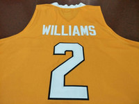 Maillot de broderie Homme College Tennessee Vols Grant Williams # 2 Real Taille S-4XL ou personnalisé