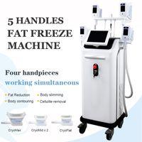 Avançados 4 alças Cryo Máquina Super Fat Congelamento Remoção Lipo Fat Contorno Corporal Máquina de Cryolipolysis corpo emagrecimento Equipamento