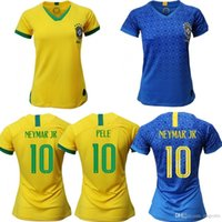 Brazil 2019 Women World Cup girls soccer jersey Home Kit JES...