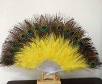 Peacock Fan Belly Dance Peacock Fan Belly Dance Articles Feather Fan 6pcs/lot WL281