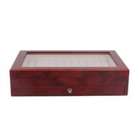 Schwarz / Burgunder-Holzstift-Anzeigen-Aufbewahrungskoffer, 23 Stifte Kapazität, Füllfederhalter-Kollektor-Organizer-Box mit transparentem Fenster