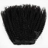 페루 레미 Vigin Natural 10 ~ 22 인치 100g 120g 140g 160g Afro Kinky 곱슬 4A 실제 인간의 머리카락 확장 클립