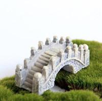 Attrezzi del giardino dello strumento della decorazione di terrario del giardino del ponticello di miniatura del mini ponte della resina paesaggio miniatura del giardino Trasporto libero del DHL
