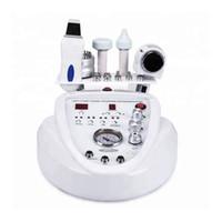 5 em uma máquina de ultra-som de diamante dermabrasão Microdermabrasão LED micro corrente de elevação de ultra-sons purificador pele RF olho frio quente martelo