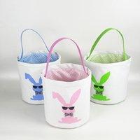 Cestas Sacos 15styles Cesta de Páscoa Easter Bunny de armazenamento de ovos de doces Bucket lona Lantejoula armazenamento Tote do coelho da páscoa Bolsas GGA3189