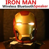 Iron Man Bluetooth Speaker LED Flashing Light Boombox Suppor...