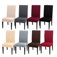 20 Colors Solid Color Chair Slipcovers Elastic Washable Chai...