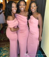 2019 여름 봄 신부 들러리 드레스 아프리카 인어 국가 정원 공식적인 웨딩 파티 게스트 하녀 명예 가운 플러스 사이즈 맞춤 제작