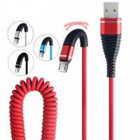 1.2M 마이크로 USB 전화 케이블 물고기 꼬리의 봄 내구성 케이블 데이터는 빠른 안드로이드 전화 범용 케이블 충전