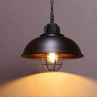 شنقا قلاع مصابيح الرجعية الصناعية قفص الكيروسين hanglampen لوفت الأمريكية نمط المعادن مصباح المطبخ عاكس الضوء