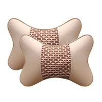 Accesorios para automóviles Cojín de cuello almohadas almohadas de cuero de alta calidad Cuero duradero 2pcs 4pcs Atrás Set de almohada Ajuste del cinturón de seguridad Cojín