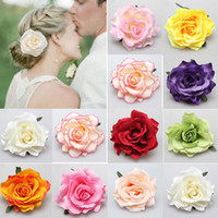 Hot Sale 1 PC Fashion Multicolor Rose Flower Bridal Hair Cli...