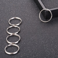 50PCS DIY 25MM Metal Key Holder Split Rings Keyring Keychain...