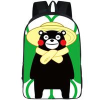 Çiftçi sırt çantası Kumamon ayı köylü günü paketi Şapka ma gün okul çantası Kumamoto packsack Fotoğraf sırt çantası Spor schoolbag Açık sırt çantası