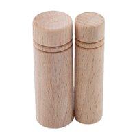 Nozioni di cucito Strumenti FAI DA TE Aghi per utensili fatti a mano stoccaggio Tubo di legno Cavo a maglia Ago Accessori Accessori Supporto S / L