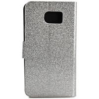 Titulaire de la carte portefeuille luxe Bling glitter PU PU Housse en cuir pour Samsung Galaxy S6 G9200
